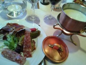 La carte de restaurant, Fondue de Chaource restaurant la Mezzanine à Sézanne