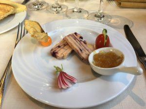 Les entrées, restaurant Sézanne dans la Marne, 51
